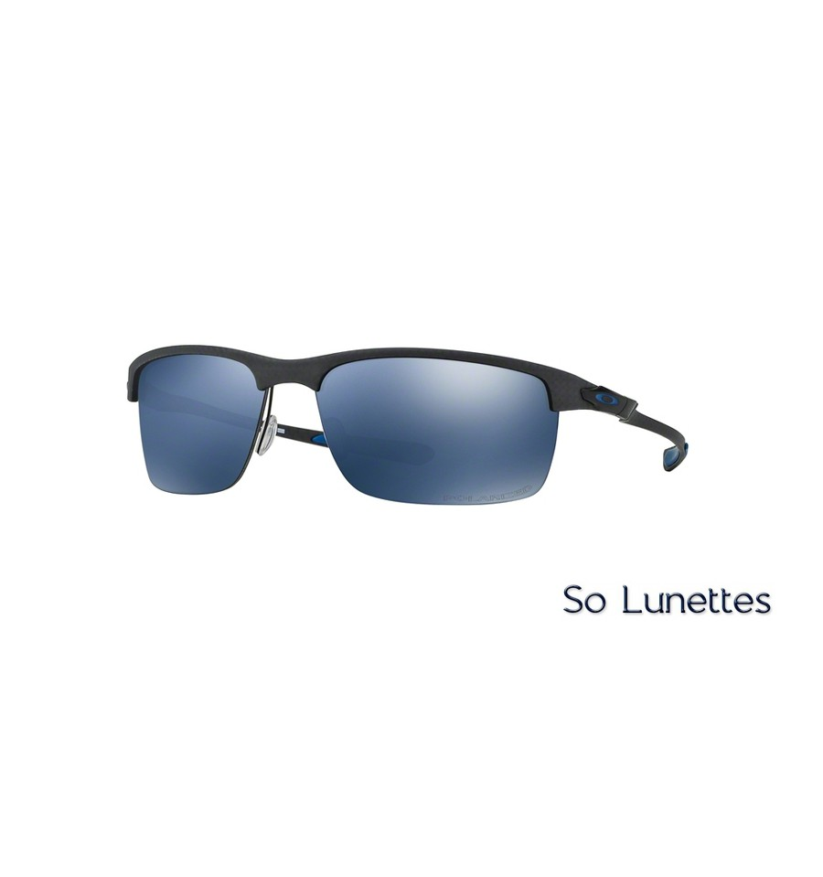 lunettes de soleil oakley homme carbon blade oo9174 917405 monture grise verres bleu polaris. Black Bedroom Furniture Sets. Home Design Ideas