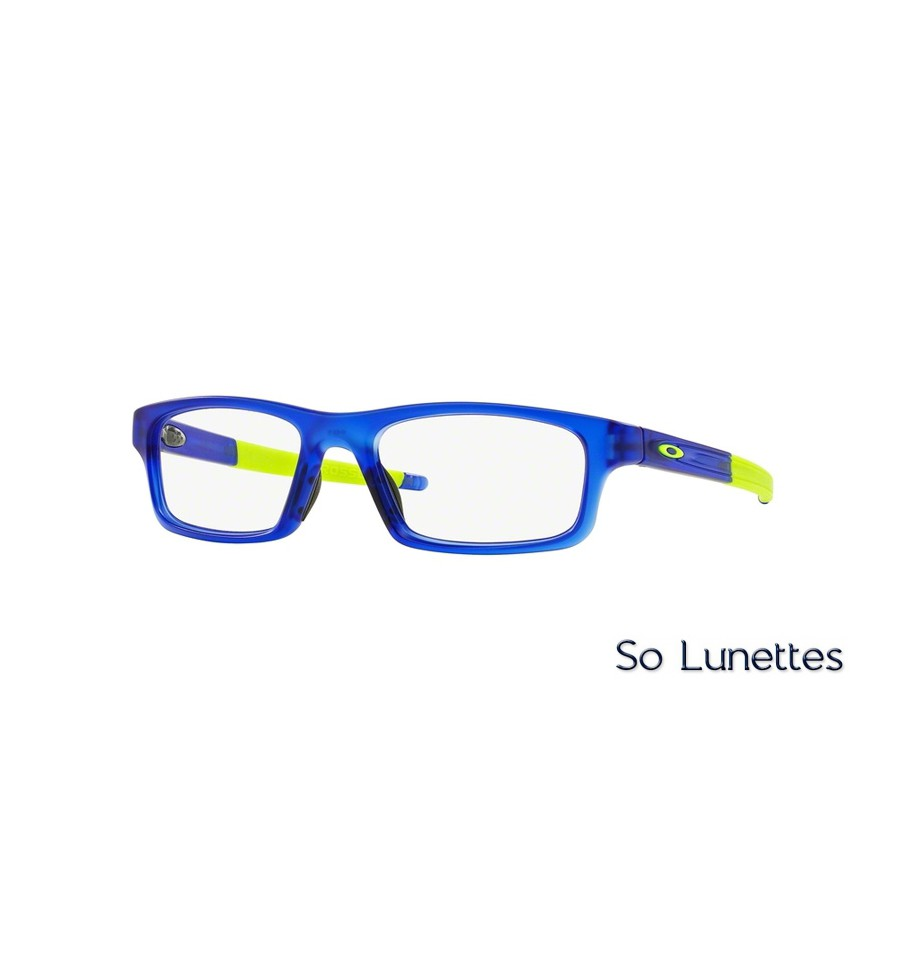 lunettes de vue oakley homme crosslink pitch ox8037 803704 monture bleue. Black Bedroom Furniture Sets. Home Design Ideas