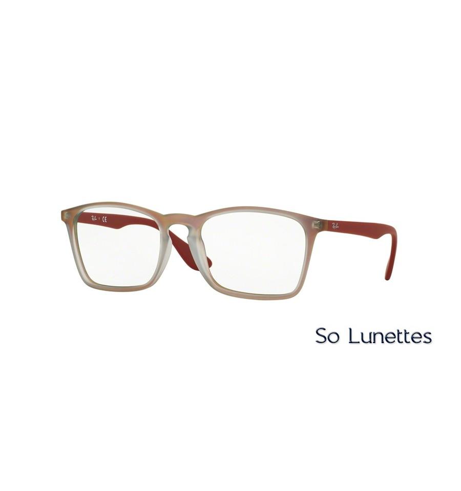 lunettes de vue ray ban homme rx7045 5485 monture rouge. Black Bedroom Furniture Sets. Home Design Ideas