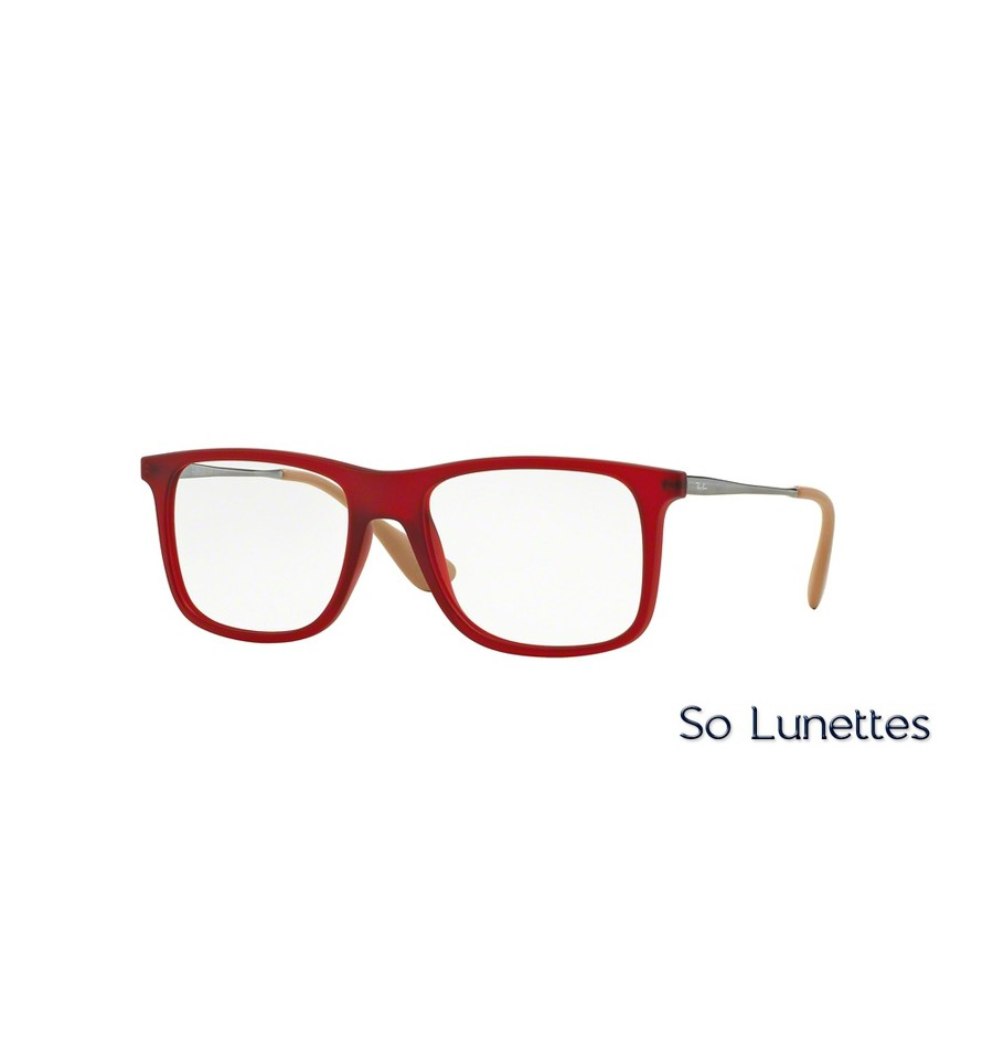 lunettes de vue ray ban homme rx7054 5525 monture rouge. Black Bedroom Furniture Sets. Home Design Ideas