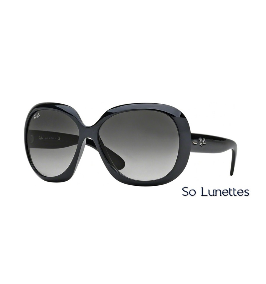 lunettes de soleil ray ban femme jackie ohh ii rb4098 601 8g monture noire verres gris d grad. Black Bedroom Furniture Sets. Home Design Ideas