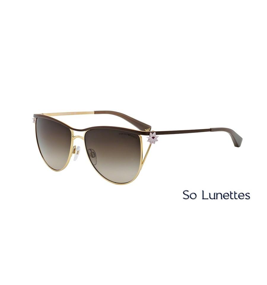 lunettes de soleil emporio armani femme ea2022 306913 monture marron. Black Bedroom Furniture Sets. Home Design Ideas