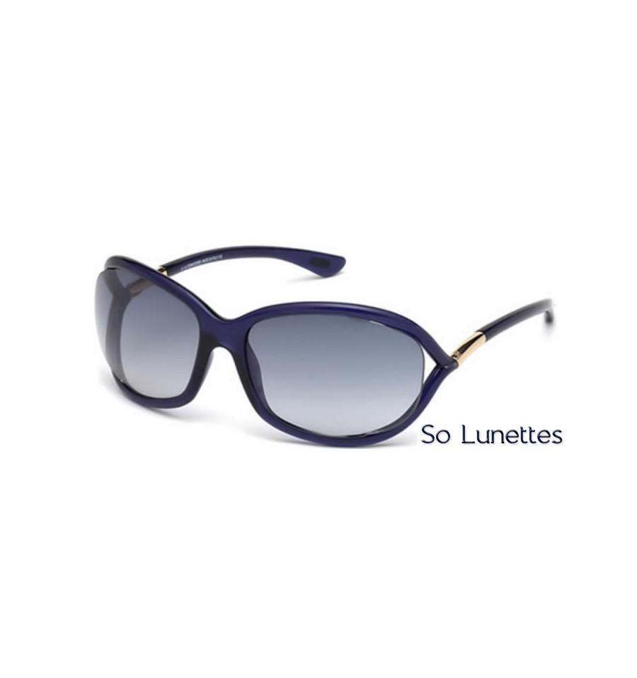 Lunette de soleil Tom Ford FT0008 90W - bleu brillant - bleu fumé 10b1fa10563e