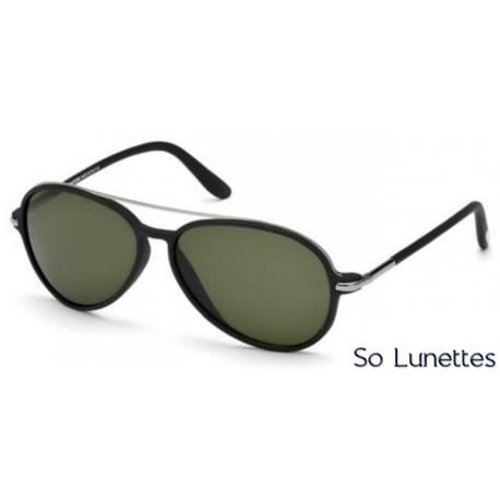 lunettes de soleil Tom Ford RAMONE FT0149 02N noir opaque / vert