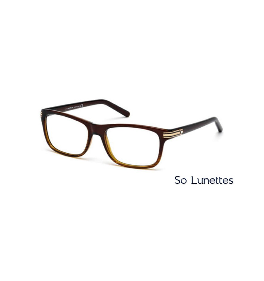 montblanc mb0532 050 marron fonc 233 so lunettes