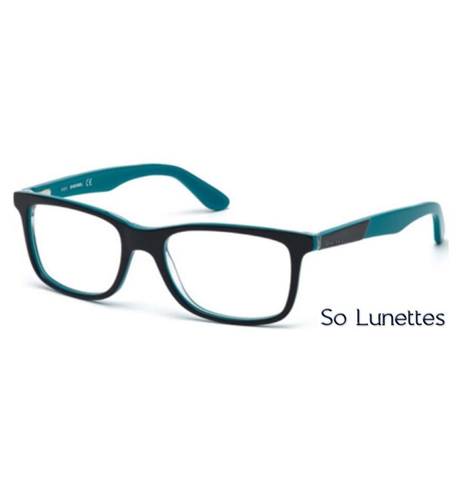 diesel dl5168 090 bleu brillant so lunettes. Black Bedroom Furniture Sets. Home Design Ideas