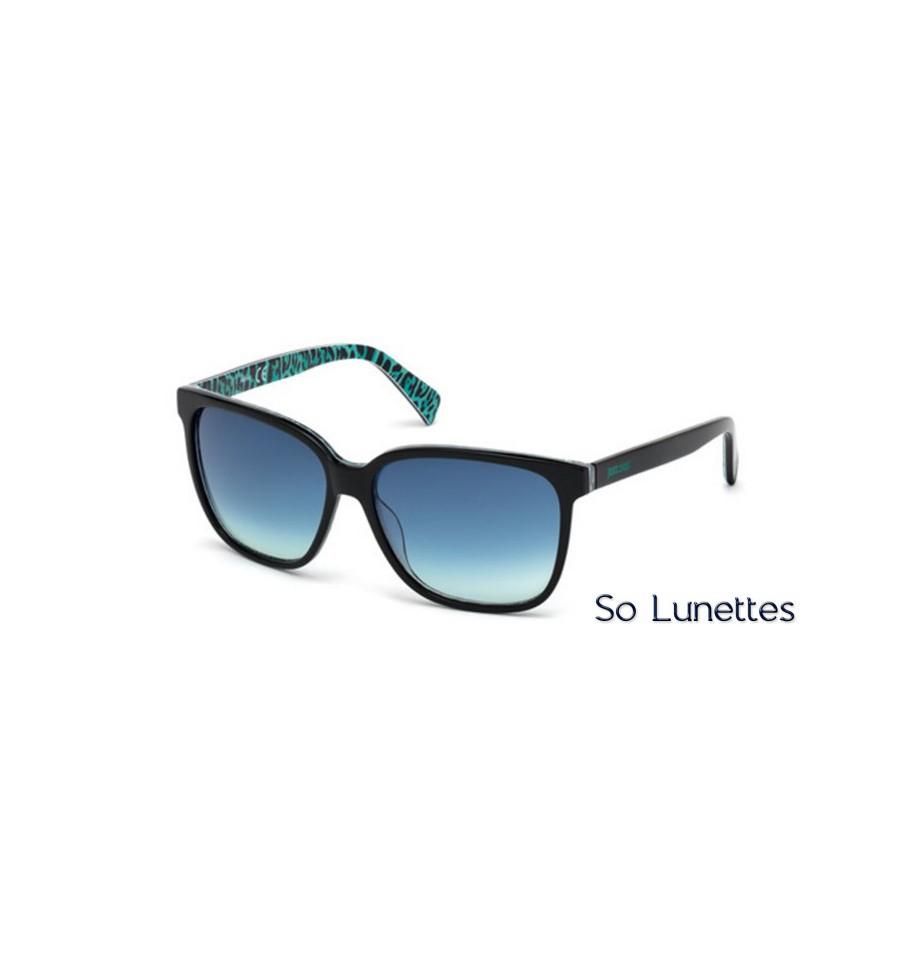 Lunettes de soleil Just Cavalli JC645S 05W noir - bleu fumé 6b84f569807b