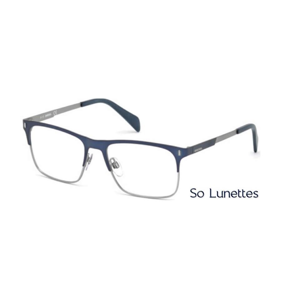 diesel dl5151 091 bleu opaque so lunettes. Black Bedroom Furniture Sets. Home Design Ideas
