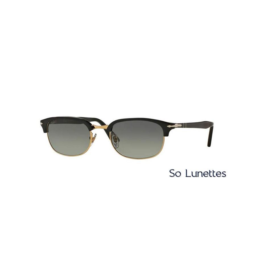 lunette de soleil persol homme 0po8139s 95 71 monture noir verres gris. Black Bedroom Furniture Sets. Home Design Ideas