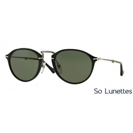 lunette de soleil persol homme 0po3075s 95 31 monture noir verres vert. Black Bedroom Furniture Sets. Home Design Ideas