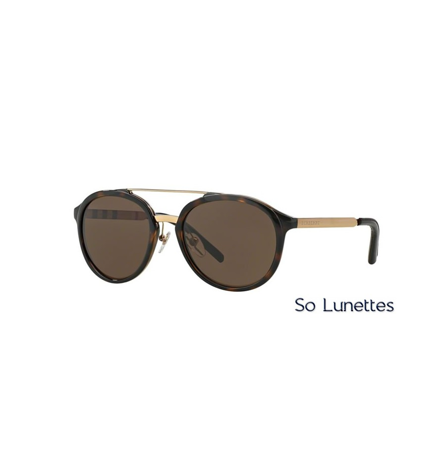lunette de soleil burberry homme 0be4168q 300273 monture ecaille verres marron. Black Bedroom Furniture Sets. Home Design Ideas