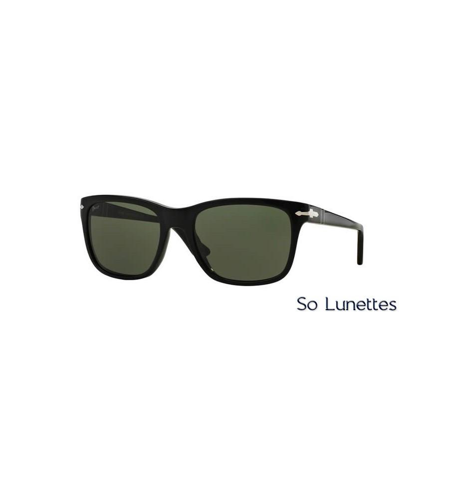 lunette de soleil persol homme 0po3135s 95 31 monture noir verres vert. Black Bedroom Furniture Sets. Home Design Ideas