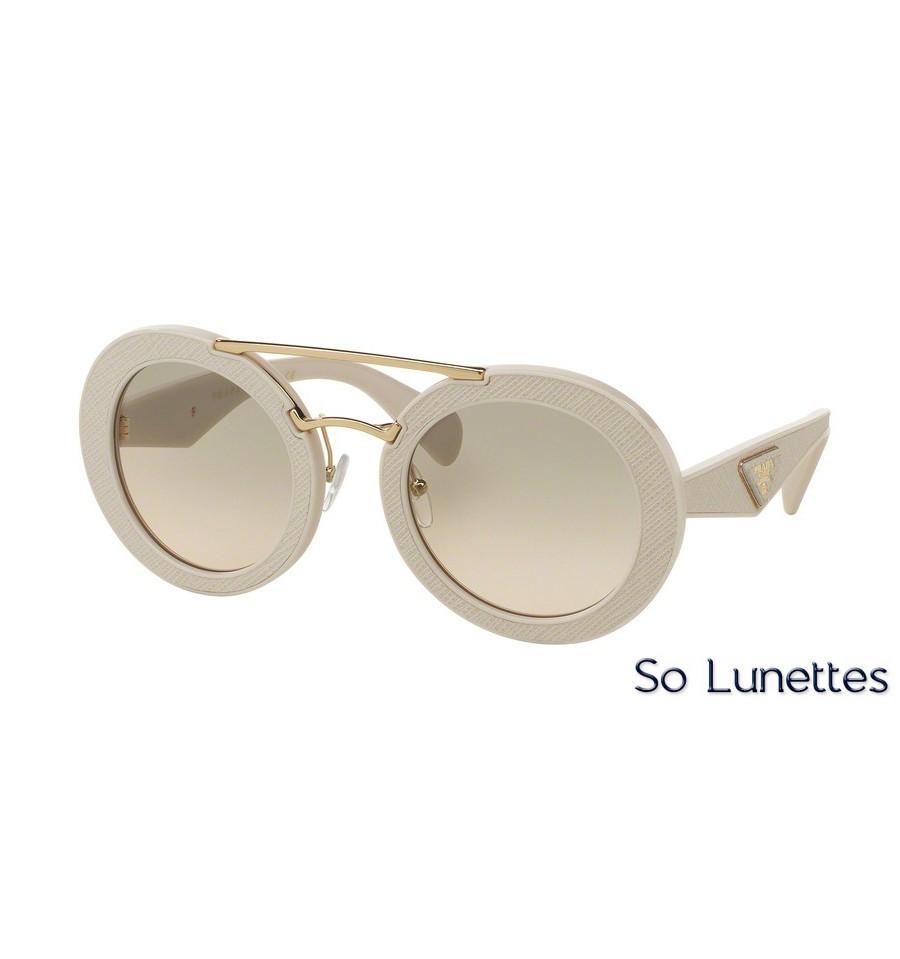 lunettes de soleil prada femme pr 15ss ufp3h2 monture beige verre beige d  grad 02227e355f58