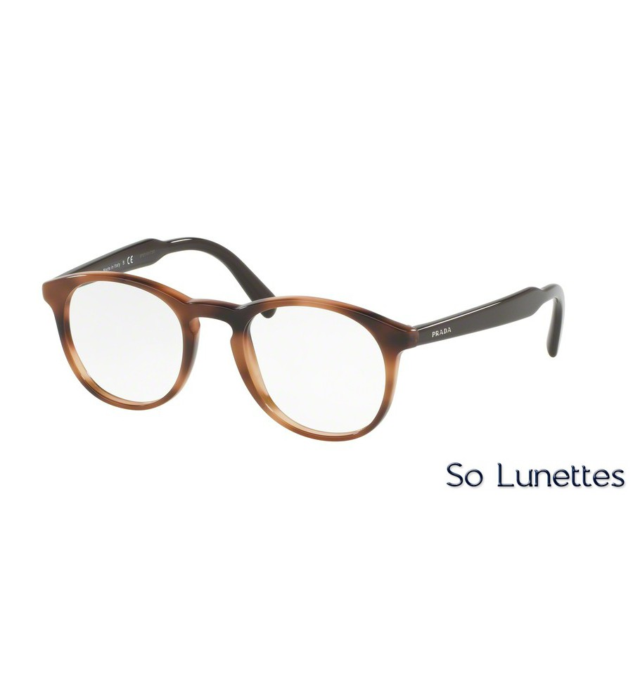 lunettes de vue prada homme pr 19sv u6j1o1 monture marron. Black Bedroom Furniture Sets. Home Design Ideas