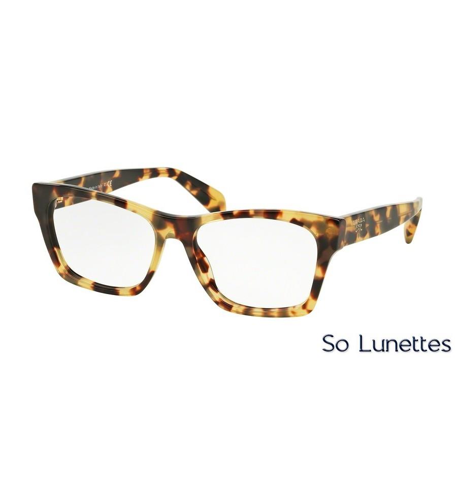 lunettes de vue prada femme pr 22sv 7s01o1 monture caille. Black Bedroom Furniture Sets. Home Design Ideas