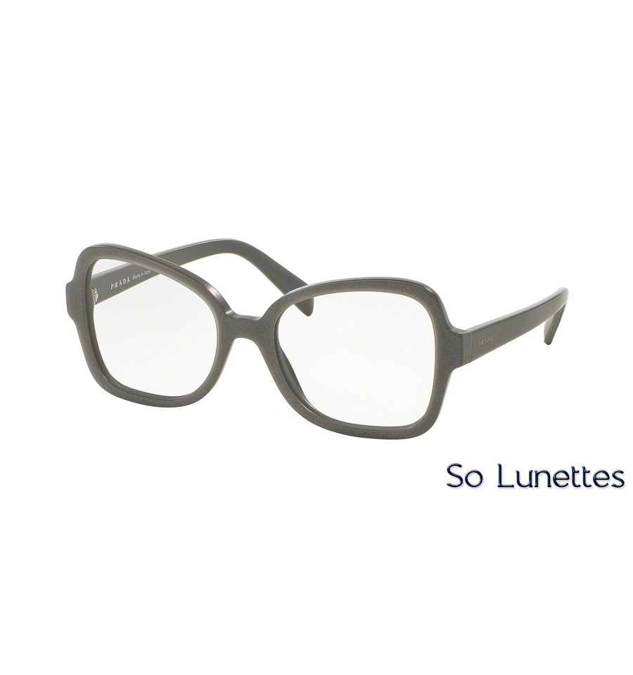 lunettes de vue prada femme pr 25sv ufg1o1 monture gris. Black Bedroom Furniture Sets. Home Design Ideas