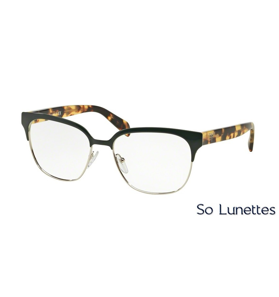 lunettes de vue prada femme pr 54sv uez1o1 monture vert. Black Bedroom Furniture Sets. Home Design Ideas