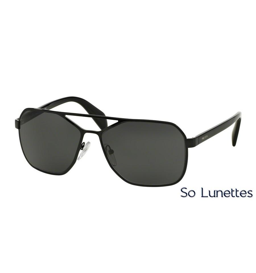 lunettes de soleil prada homme pr 54rs 7ax1a1 monture noir verre gris. Black Bedroom Furniture Sets. Home Design Ideas