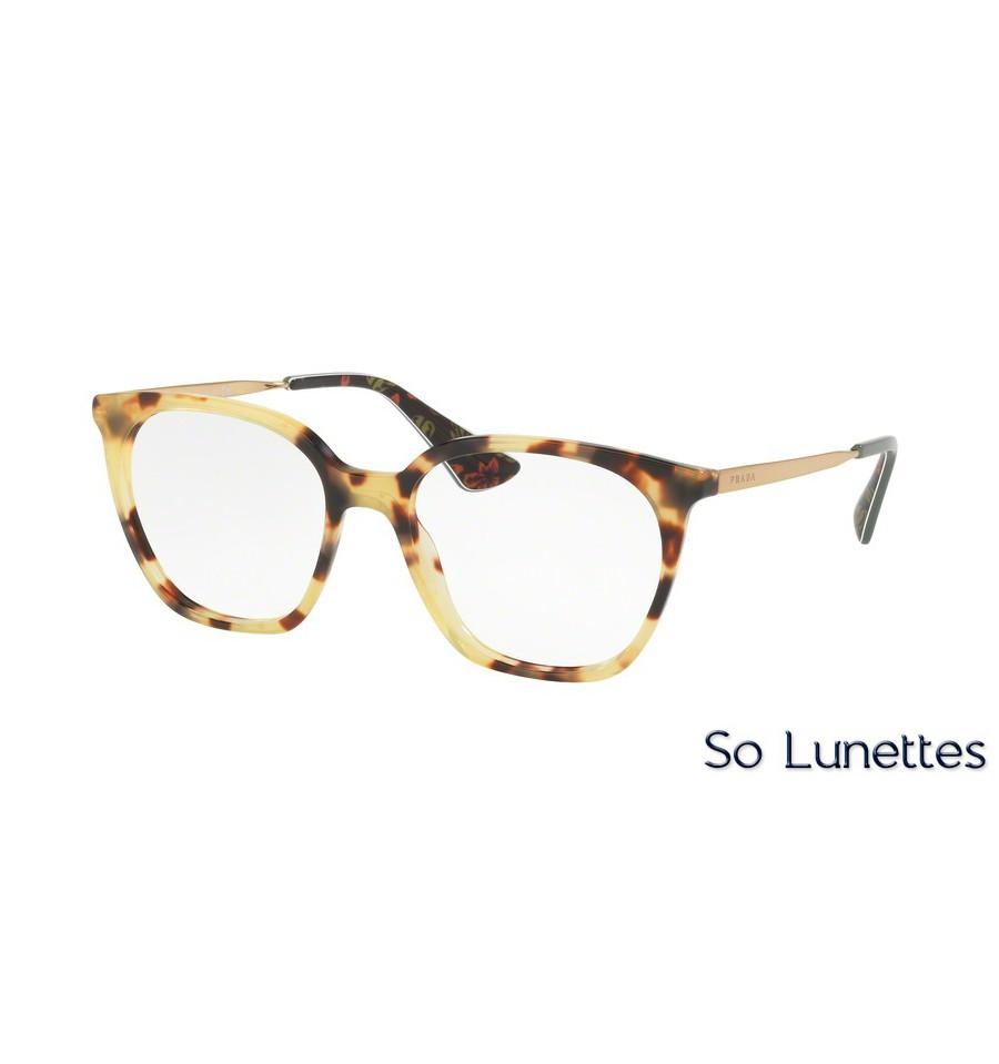 lunettes de vue prada femme pr 11tv 7s01o1 monture caille. Black Bedroom Furniture Sets. Home Design Ideas
