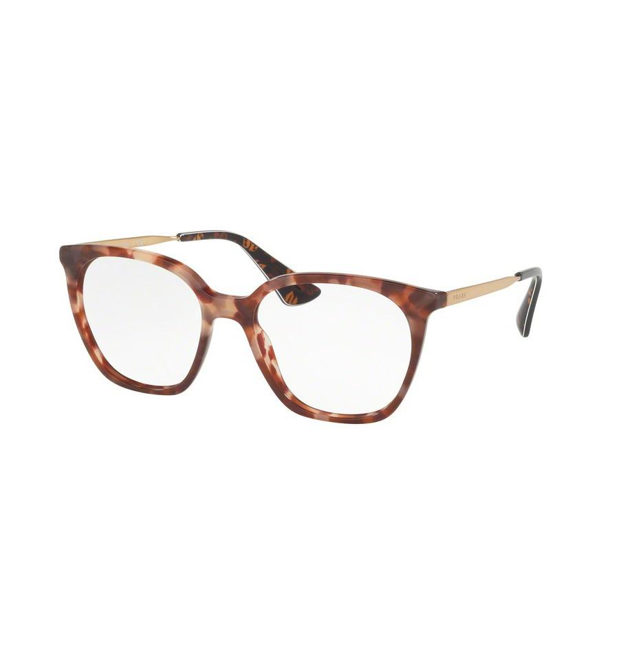 lunettes de vue prada femme pr 11tv ue01o1 monture rose. Black Bedroom Furniture Sets. Home Design Ideas