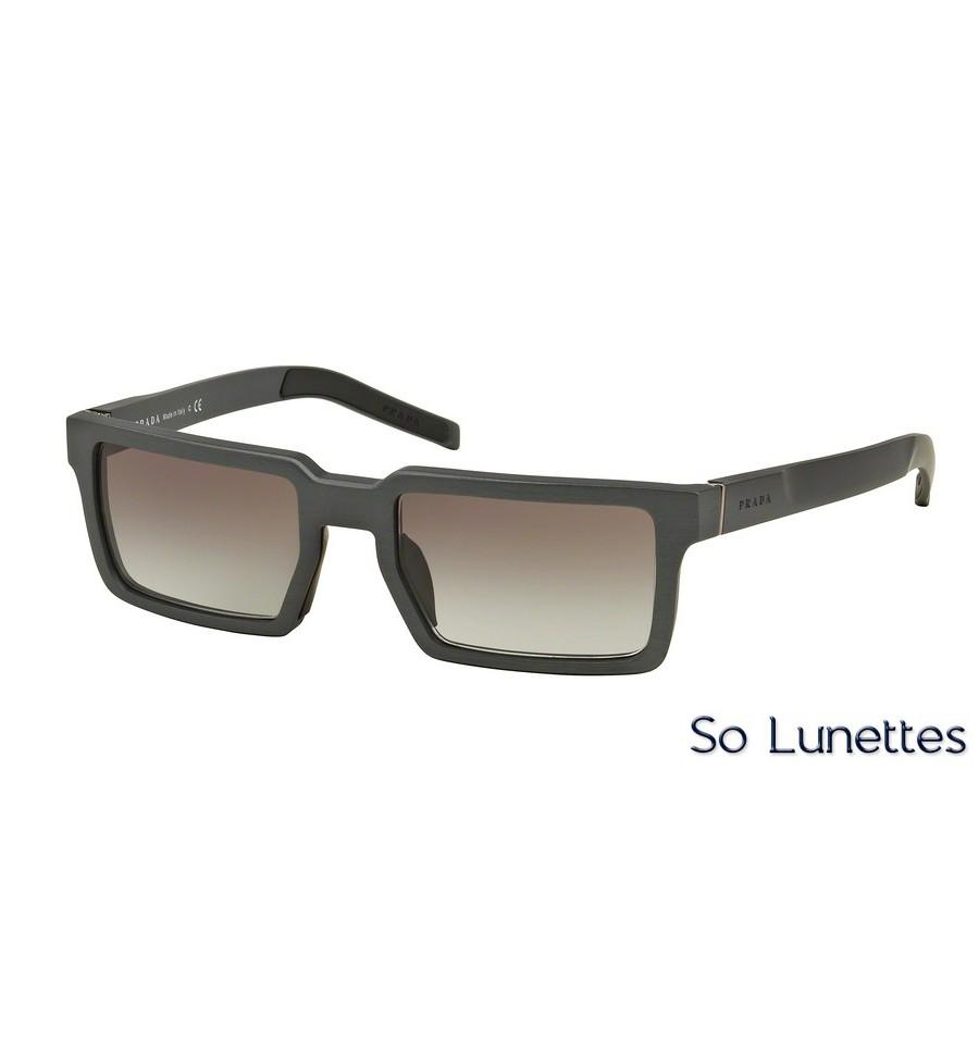 lunettes de soleil prada homme pr 50ss uej0a7 monture noir verre marron d grad. Black Bedroom Furniture Sets. Home Design Ideas