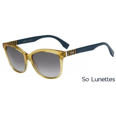 lunettes de soleil fendi femme ff 0054 s mqw ye monture miel transparent grise bleue verres. Black Bedroom Furniture Sets. Home Design Ideas