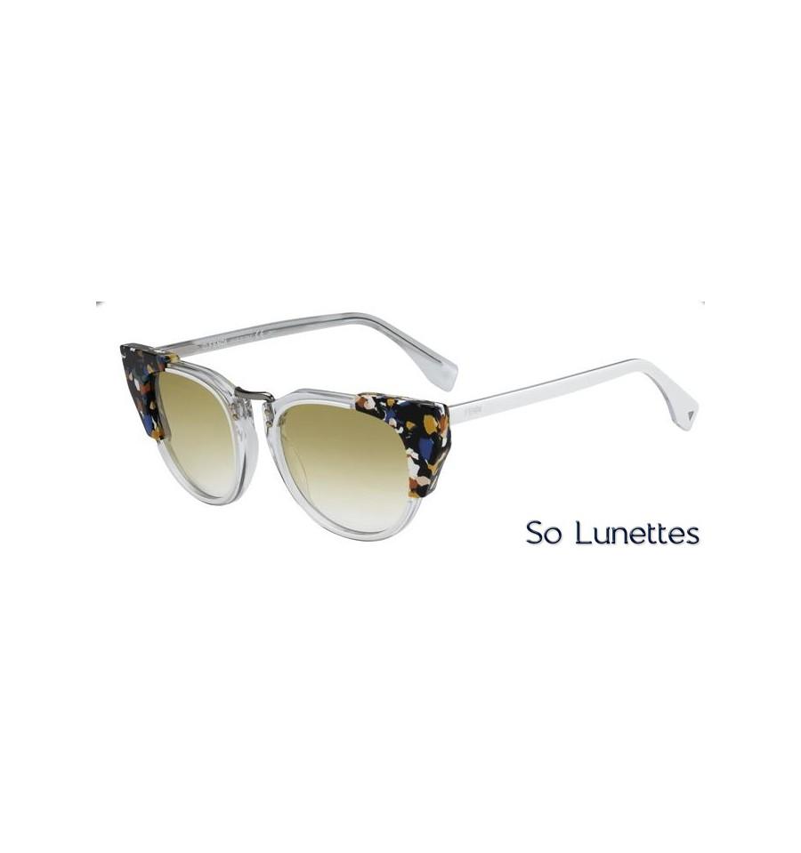 lunettes de soleil fendi femme ff 0074 s rck sv monture blanche transparente tachet e. Black Bedroom Furniture Sets. Home Design Ideas