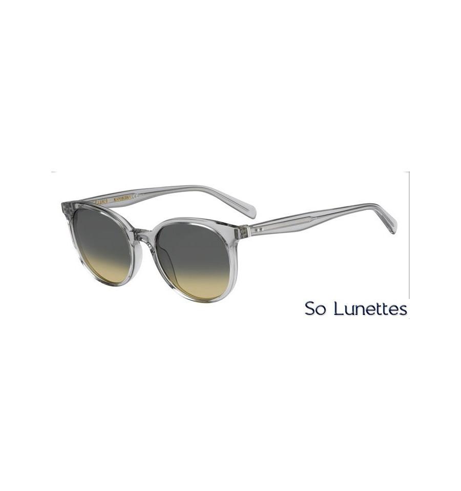 lunettes de soleil c line femme cl 41067 s rdn bw monture grise transparente et verres gris. Black Bedroom Furniture Sets. Home Design Ideas