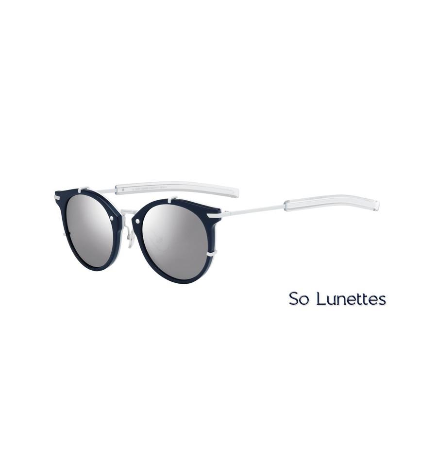 lunettes de soleil dior homme dior0196s mzl dc avec une monture bleue blanche et des verres. Black Bedroom Furniture Sets. Home Design Ideas