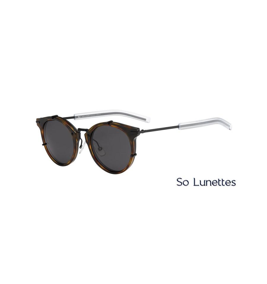 lunettes de soleil dior homme dior0196s mzr y1 monture havane noire verres gris. Black Bedroom Furniture Sets. Home Design Ideas