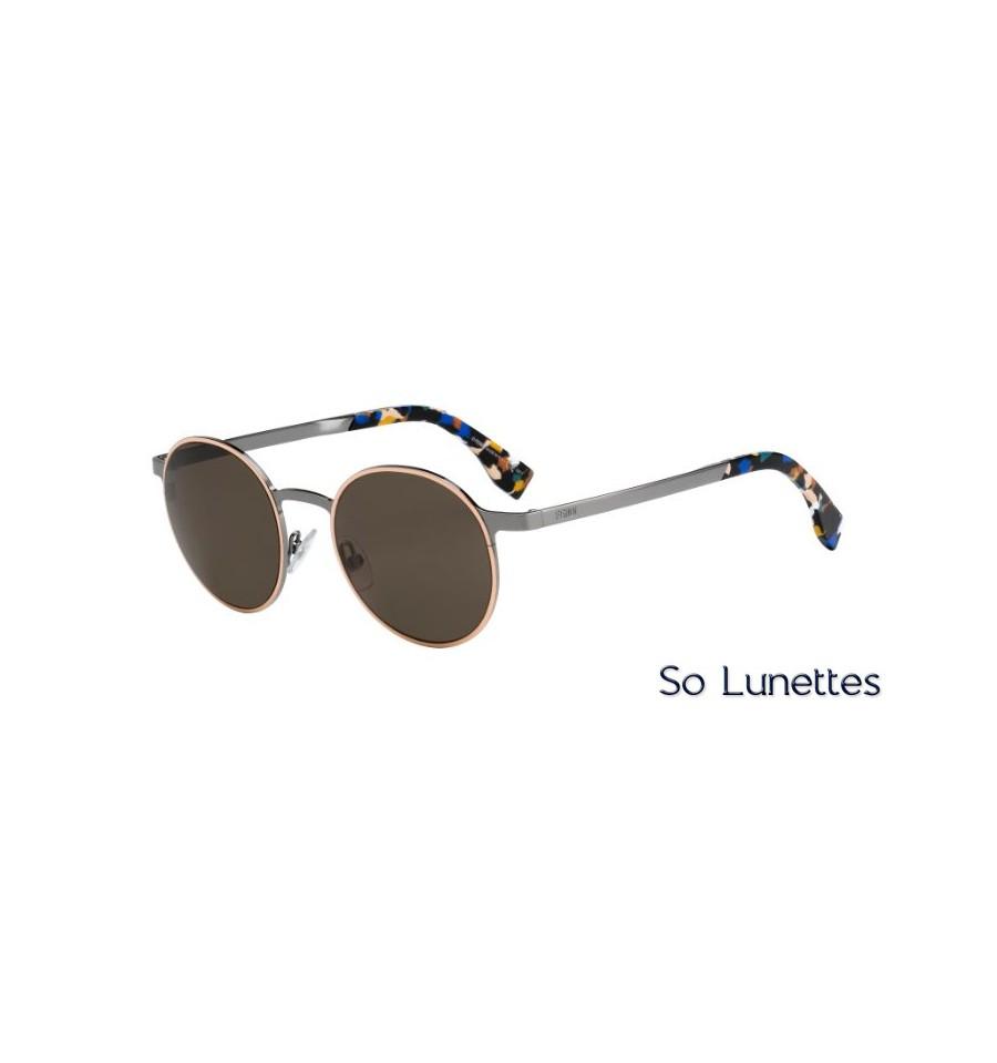 e792acae014a3e Lunettes de soleil Fendi femme FF 0090 S D49 (X1) monture ruthénium ...