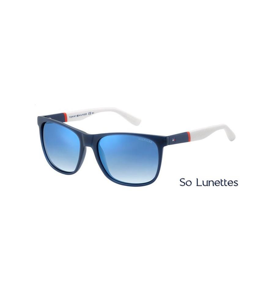 lunettes de soleil tommy hilfiger homme th 1281 s fmc dk monture bleue verres bleu ciel. Black Bedroom Furniture Sets. Home Design Ideas