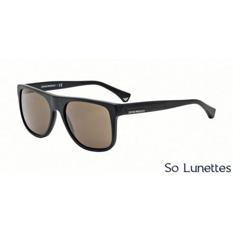 lunettes de soleil emporio armani homme ea4014 504273 monture noire verres marron. Black Bedroom Furniture Sets. Home Design Ideas