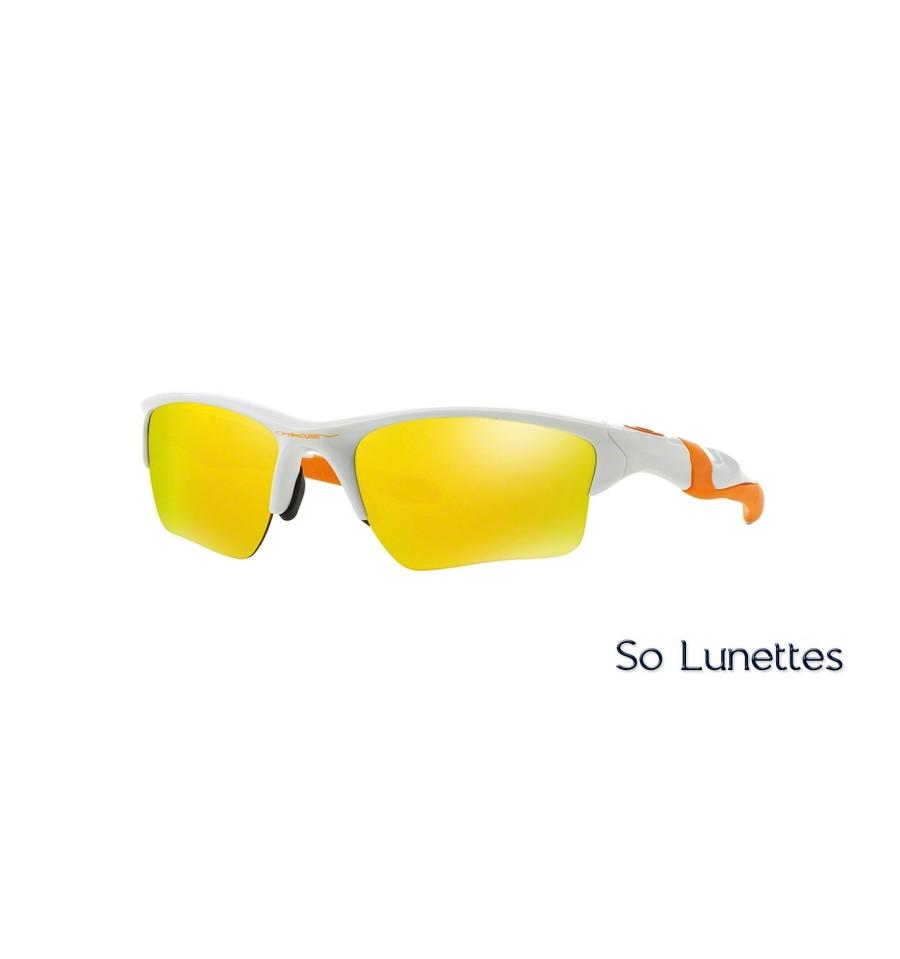Lunettes de soleil Oakley Homme HALF JACKET 2.0 XL OO9154 915452 Blanche abe159ddaf28
