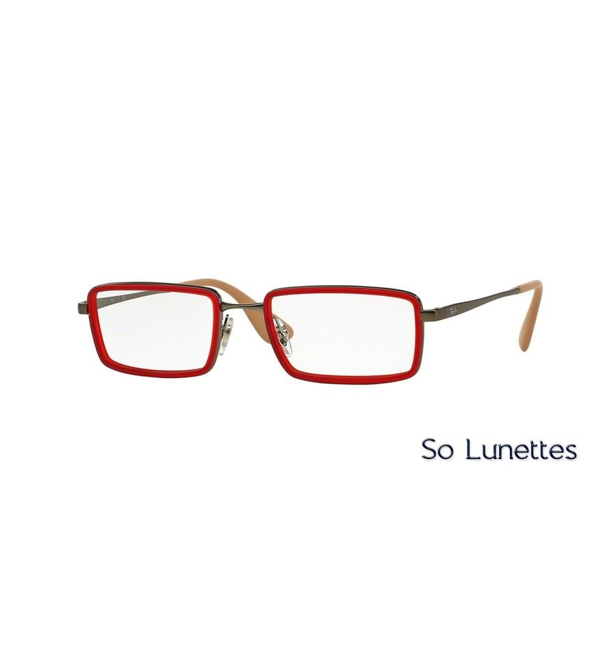1cf66e51fe Lunettes de vue Ray-Ban Homme RX6337 2856 monture Rouge