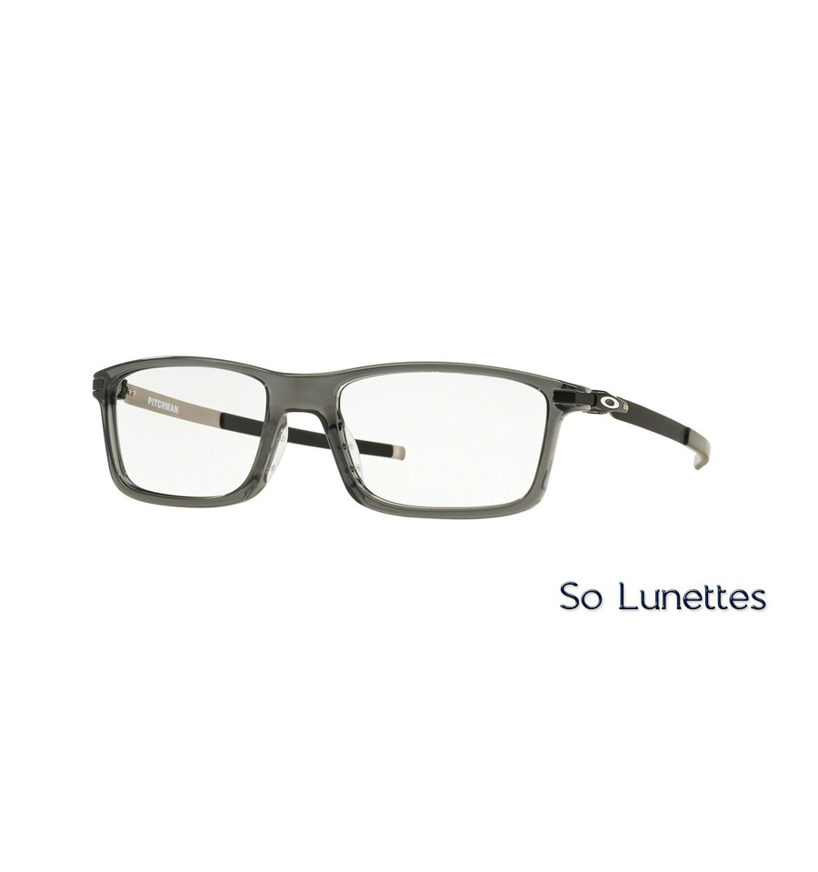 lunettes de vue oakley homme pitchman ox8050 805006 monture grise. Black Bedroom Furniture Sets. Home Design Ideas