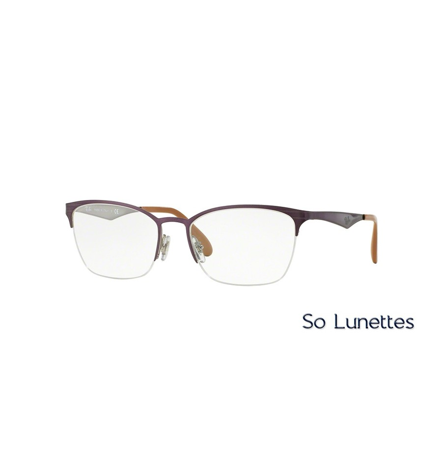 Lunettes de vue Ray-Ban Femme RX6345 2864 monture Violette fbdc7e25a2c6