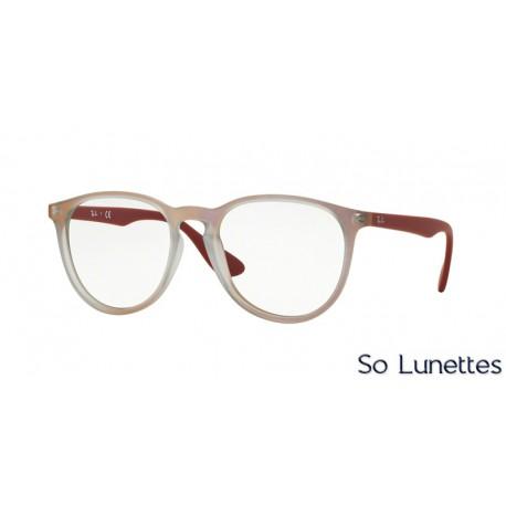 lunettes de vue ray ban femme rx7046 5485 monture rouge. Black Bedroom Furniture Sets. Home Design Ideas