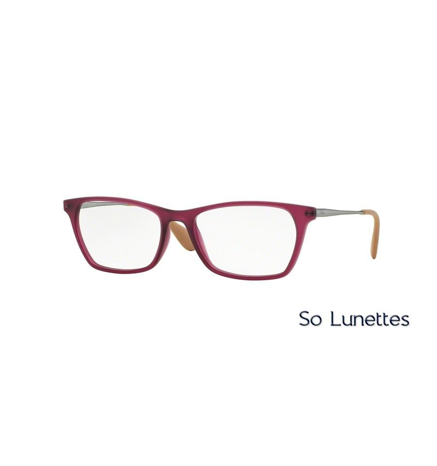 lunette de vue ray ban rouge
