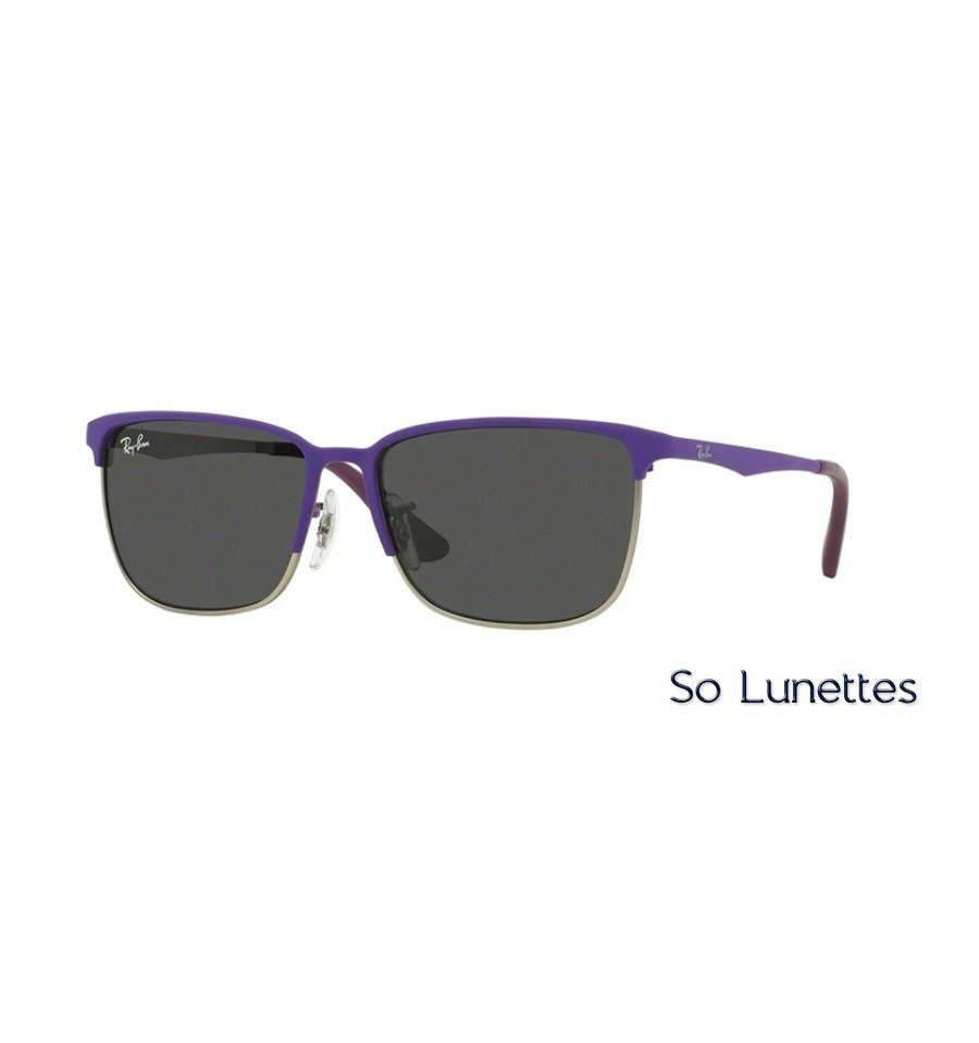 920f56660d3135 Lunettes de soleil Ray-Ban RJ9535S 246 87 monture Violette verres Grises