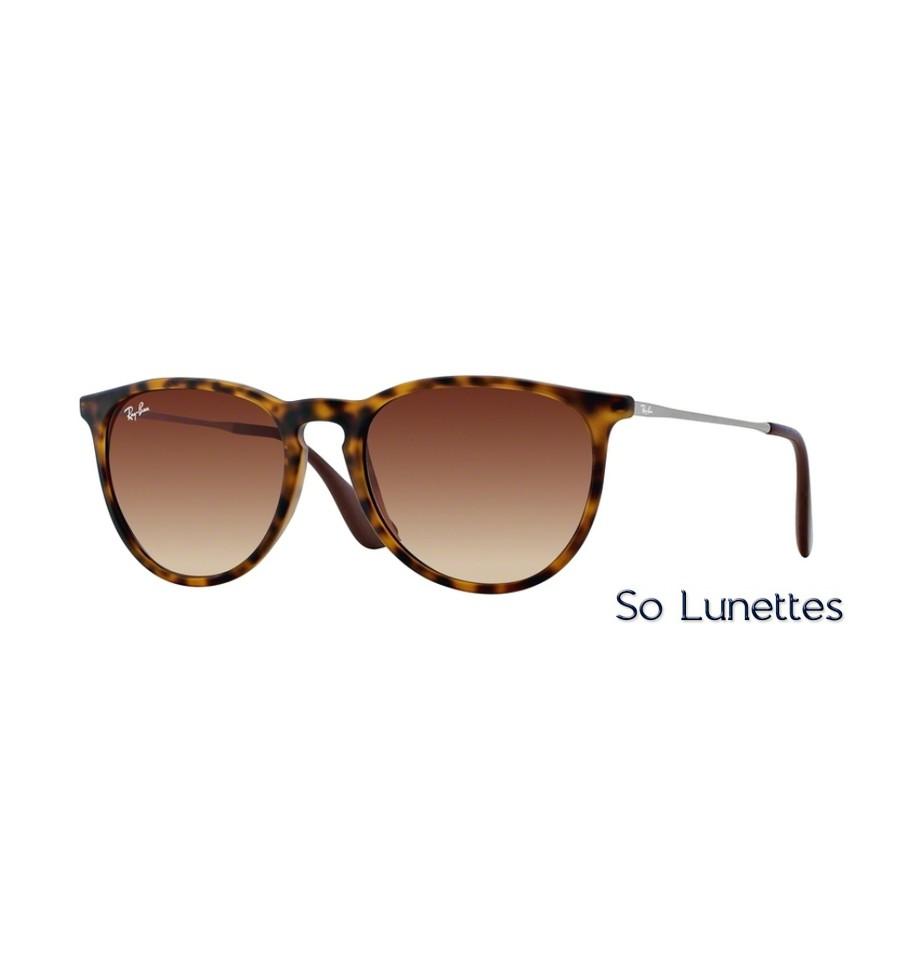 lunettes de soleil ray ban homme erika rb4171 865 13 monture caille verres marron d grad. Black Bedroom Furniture Sets. Home Design Ideas
