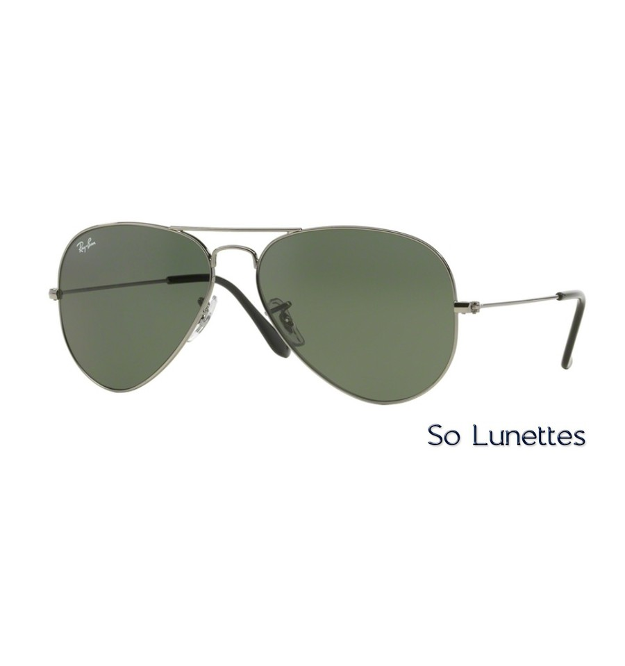 Aviator Ray Rb3025 Large Gunmetal Metal Ban W0879 Homme NwmnOv80