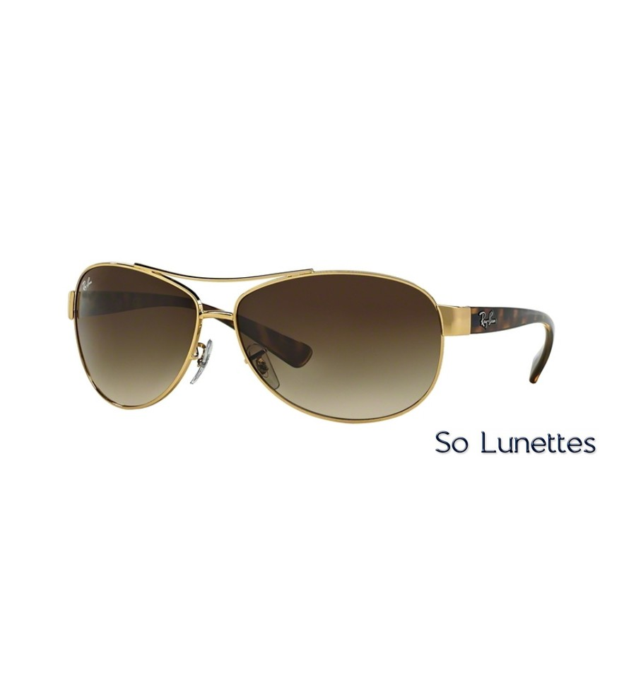 10e0fcdf977 Lunettes de soleil Ray-Ban Homme RB3386 RB3386 001 13 monture Or ...