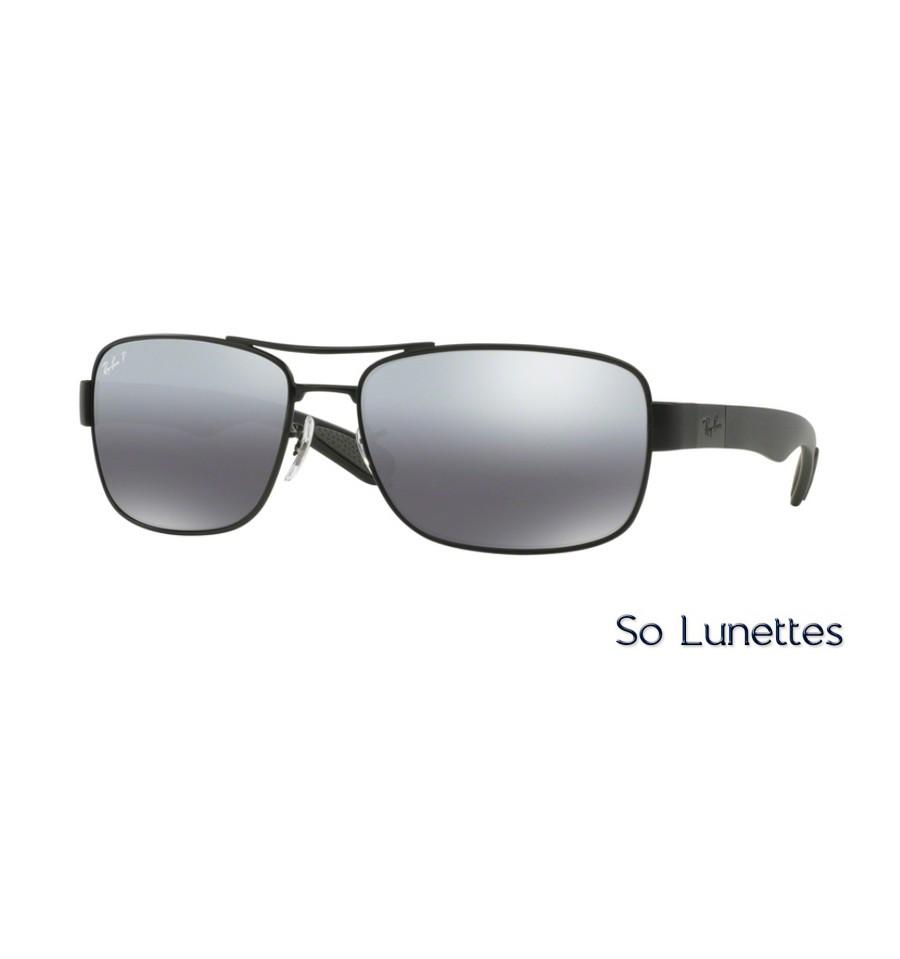 8bb97cbf6d5e3f Lunettes de soleil Ray-Ban Homme RB3522 006 82 monture Noire verres ...