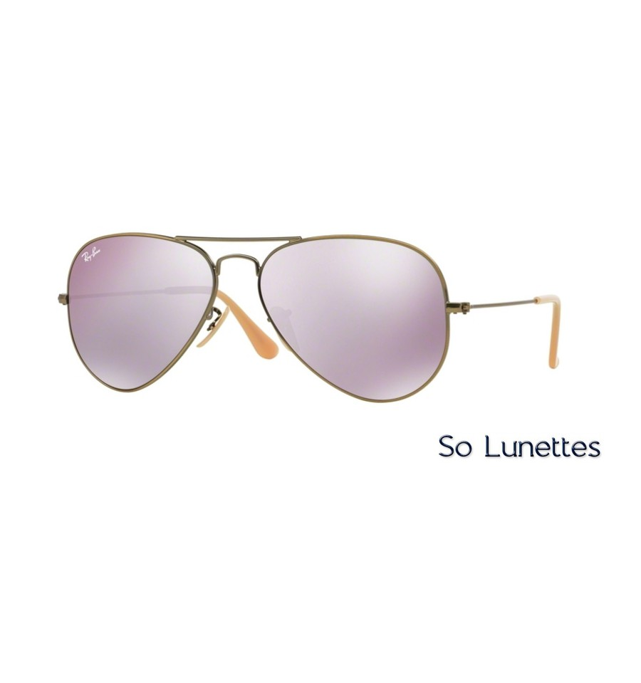 ... where to buy lunettes de soleil ray ban homme aviator large metal  rb3025 167 4k marron ... 523df72f7005