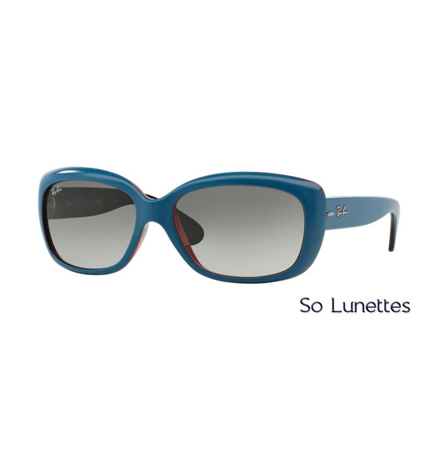 lunettes de soleil ray ban femme jackie ohh rb4101 613311 monture bleue verres gris d grad. Black Bedroom Furniture Sets. Home Design Ideas