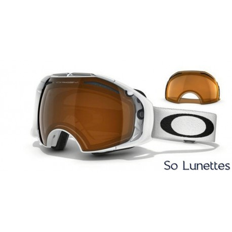 Masque de Ski Oakley Airbrake Polished White OO7037