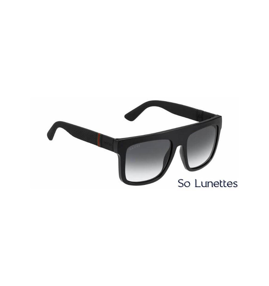 f7c9b9257acbf0 Lunette de soleil Gucci Gg 1116 S M1V (9O) BLACK RBBR
