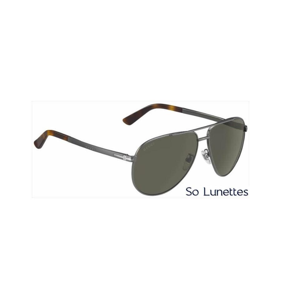 Gucci Lunettes de Soleil avec Verres Polarisés en Métal Or GLEi2wiXv