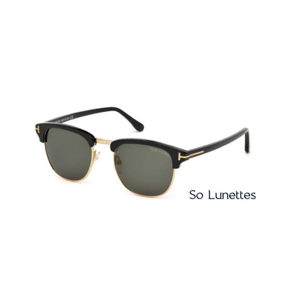 ea151d3a868920 Lunettes de soleil Tom Ford HENRY FT0248 05N noir   vert